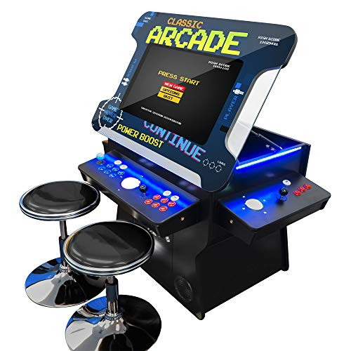 Creative Arcades Full Size Commercial Grade Cocktail Arcade Machine | Trackball | Three-Sided | 1162 Classic Games | 4 Sanwa Joysticks | 2 Stools Included | 3 Year Warranty | 26' Lifting Screen