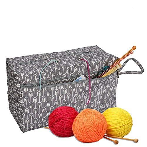 crochet sewing basket - 1