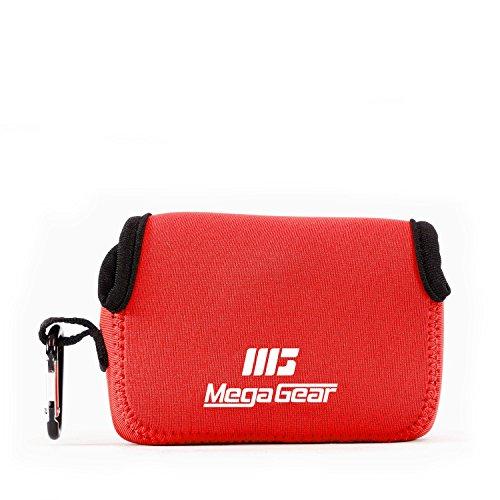 MegaGear MG804 Estuche de cámara Ultra Ligero, de Neopreno Compatible con Fujifilm FinePix XP140, XP130, XP120, XP90 - Rojo