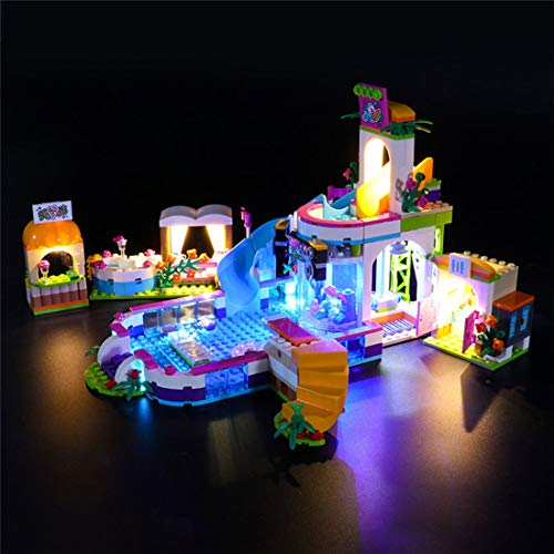 HYZM LED Beleuchtungsset Licht Set für LEGO Friends Heartlake Freibad, Beleuchtung Licht Set für Lego 41313 (Nur LED Licht, Ohne LEGO Kit)