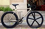 MOWHEEL Bicicleta Monomarcha Fixie/Single Speed Raw T-54cm