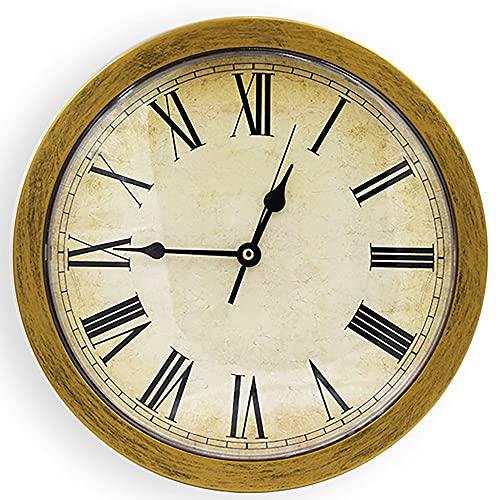 XAENG Reloj, Caja De Fusibles De Reloj, Puede Poner Algunos Artículos Y Un Diseño Circular Elegante, Seguro para Ocultar Objetos De Valor, Puede Almacenar Llaves Y Teléfonos Móviles,Latón