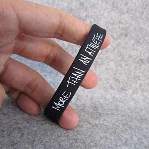 XiXi La Estrella De Baloncesto Lebron James No Es Sólo Un Deporte Pulsera Deportista Pulseras De Silicona (Color : Black 19CM)