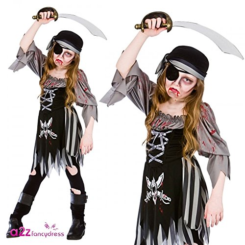 Zombie Ghost Pirate Girl - Kids Costume 11 - 13 years
