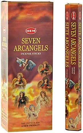 Hem Seven Arcangels Incense - 6 Packs, 21 Sticks per Pack