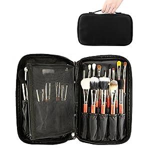 Soporte portátil para brochas de maquillaje, bolsa transparente para brochas de maquillaje, organizador de brochas de maquillaje, bolsa impermeable para maquillaje, estuche de transporte: Amazon.es: Belleza