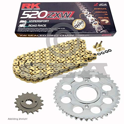 Kettingset geschikt voor Husaberg FE 501 95-99 ketting RK GB 520 ZXW 120 GOUD open 14/48