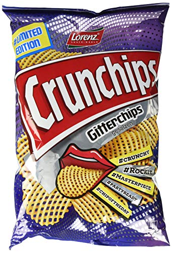 Lorenz Snack World Crunchips Gitter Chips gesalzen, 10er Pack (10 x 150 g)