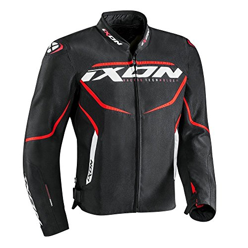 Ixon Chaqueta moto Sprinter Negro/Rojo, XXL (10010106910582XL)