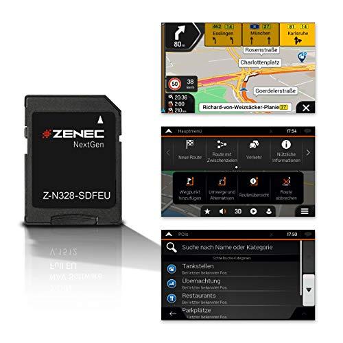 ZENEC Z-N328-SDFEU: Micro SD-Karte mit PKW Navigation für ZENEC Infotainer Z-N328, 3-D Karten für Europa, TTS, Sonderziele