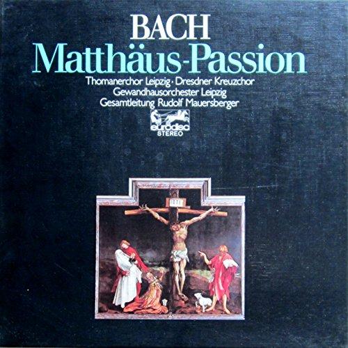 Bach: Matthäus-Passion (Gesamtaufnahme - Lukaskirche, Dresden 1970) [Vinyl Schallplatte] [4 LP Box-Set]