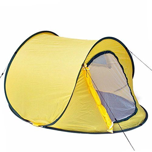 GOODS+GADGETS Pop-Up Wurfzelt Automatik-Zelt Quick-Tent Sekundenzelt zum Werfen - Gelb