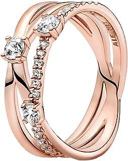 PANDORA Sparkling Triple Band PANDORA Rose Ring