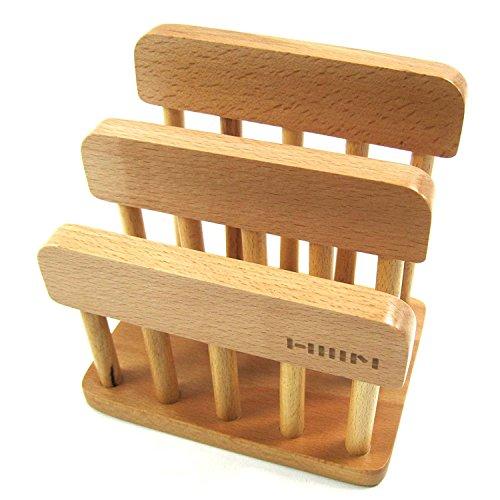 LENITH Wooden Dual Cutting Board Rack Chopping Board Organizer Stand Holder Kitchen