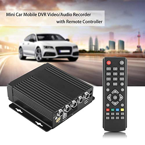 Car Mobile Digital DVR Ingresso registratore video/audio a 4 canali con telecomando