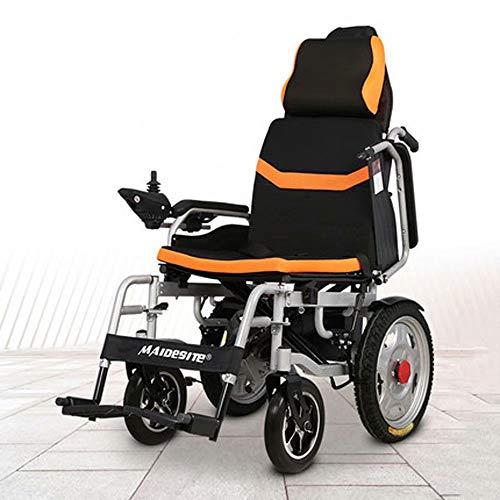 electric wheelchair Elektrorollstuhl, Faltbarer Leichtgewichtrollstuhl, Rollstuhl mit hoher Rückenlehne und Langer Lebensdauer (12AH Lithiumbatterie)