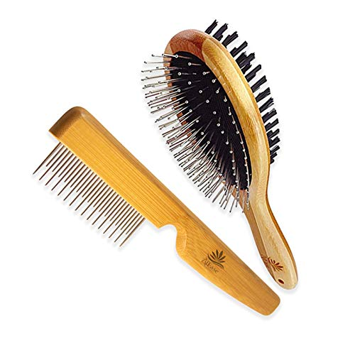 ATEASE Dog Gift Set-New Puppy Pet Kit-Starter Brush and Comb Professional Double Sided, Detangling, Dematting All Natural Grooming for Long and Short haired Dogs Cats Puppies Kittens