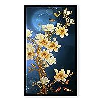 花のダイヤモンド絵画、花の5Dダイヤモンド刺繡FullDIY装飾絵画クロスステッチキットフル写真大