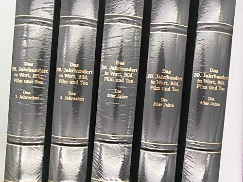 Das 20. Jahrhundert in Wort, Bild, Film und Ton. Coron Exclusiv. 12 Bände, sowie 11 Phonoboxen mit Film und Tondokumenten in VHS (sowie ein Begeleitbuch mit Chronologie des Jahrzehnts) und CD Rom. Ferner beiliegend das Abspielgerät.