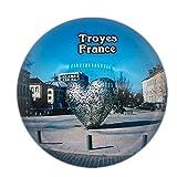 Troyes France Aimant pour Réfrigérateur 3D Verre en Cristal Touristique Ville Voyage Souvenir Collection Cadeau Fort Réfrigérateur Autocollant