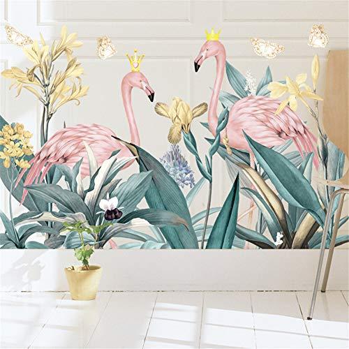 LucaSng Flamingo Wandsticker Wandaufkleber, DIY Groß Pink Wandtattoo Wanddeko für Wohnzimmer TV Hintergrund Kinderzimmer (Stil B)