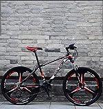 QZ 26 Pulgadas de Bicicletas de montaña, Doble Freno de Disco Trek Bicicletas, Marco de aleación de Aluminio/Ruedas, Playa de Motos de Nieve de Bicicletas