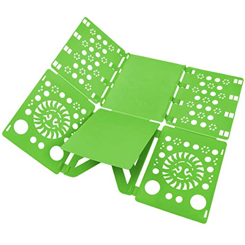 BoxLegend V2 Shirt Folding Board t Shirts Clothes Folder Durable Plastic Laundry folders Folding Boards, Green