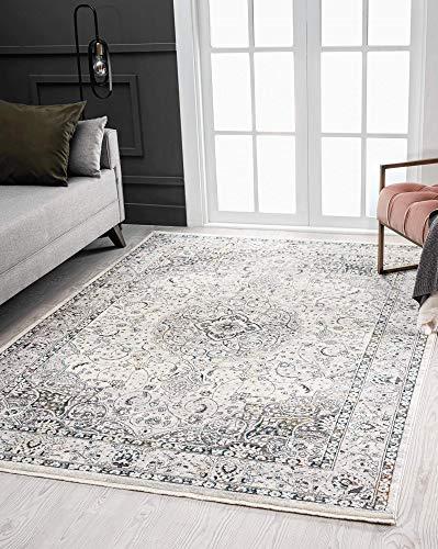 the carpet Unique Moderner Vintage Teppich mit klassischen Elementen, Designteppich, hohe Flordichte, Exklusiver Look, Hochwertig, Weicher Flor, 80x150 cm