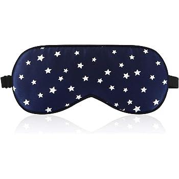 LONFROTE 100%シルクアイマスク 肌にやさしい やわらか素材 目隠し 安眠 お休みマスク 中綿シルク100% シルク 睡眠 旅行用品 リラックスグッズ 快眠 おしゃれ 耳栓 耳栓と収納袋付きセット(ブルー)