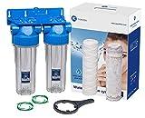 Doppelte 10 'Inline Filter Gehäuse Set Wasser Skala Reduktion 3/4' bsp Gewinde