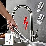 Robinet basse pression en acier inoxydable avec douchette extractible, robinet de...