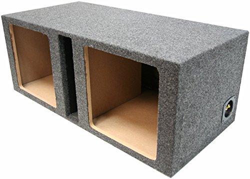 "Car Audio Dual 12"" Vented Square Sub Box Enclosure fits Kicker L7 Subwoofer"