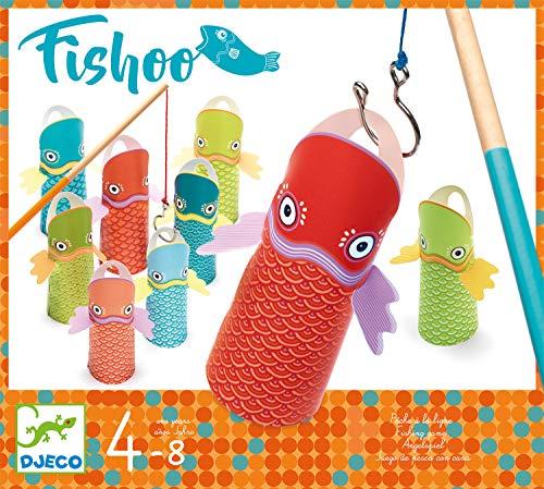 DJECO Aktions- und Spiegelspiel für Geschicklichkeitsspiele Habilidad Fishoo, Mehrfarbig (15)