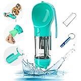 feihao Portátil Botella de Agua para Perros, Botella para Perros, Taza para Beber para Mascotas al Aire Libre,350ml dispensador de Agua Antibacteriano para Mascotas(Azul)