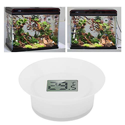 Pssopp Termómetro de Acuario Medidor de Temperatura Digital LCD a Prueba de Agua Monitor de Temperatura subacuática Termómetro de Tanque de Peces con Ventosa para Estanque de Acuario