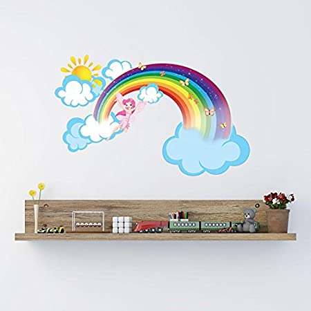 Fairy Tale Rainbow Wall Stickers Build Your Own Story Board Childrens Bedroom