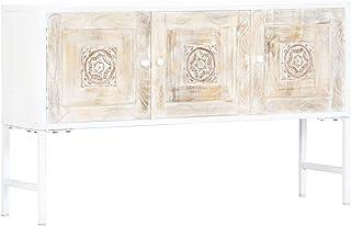Tidyard Aparador de Madera Maciza de Mango El cajón es Estable y Hermoso Único 120x30x70 cm