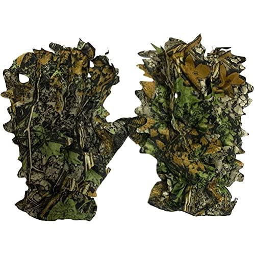 Gazaar 3D-Camouflage-Handschuhe, für die Jagd, für den Außenbereich, rutschfestes Material, guter Kaschierungseffekt, für die Jagd, Vogelbeobachtung