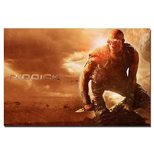 UHvEZ 1000_Children's wooden puzzle Riddick movie poster Landscape architecture adult life stress relief room toys 50x75cm
