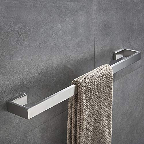 JunSun Square Towel Bar 24-Inch Stainless Steel Towel Holder...