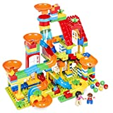 Best Choice Products Kids 247-Piece Marble Run STEM Toy Puzzle Building Blocks Race Track Roller Coaster Set w/Ramps, Slides, Funnels