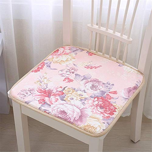 TOPCOMWW Summer Computer Chair Cushion Office Seat Cushion Summer Ice Silk Mat Student Thickened Dining Table and Chair Stool Cushion 50 * 50cm D