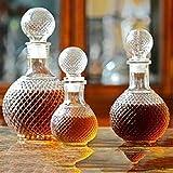 Whisky Vaso Cristal Nuevo 250/500 / 1000Ml Botella De Vidrio Para Beber De Vino Tinto Con Vodka De Cristal Vintage Opcional, 250 Ml