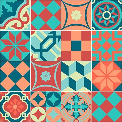 Ambiance-Live col-tiles-ROS-A833_20x20cm Pegatina de Pared, Vinilo