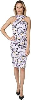 bebe Women's Choker Neck Bodycon Dress