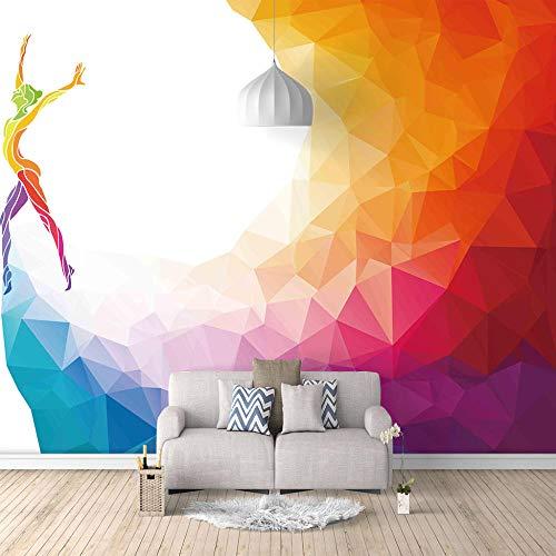 Fototapete Tanzen Moderne Wandbild Tapete 3D Vliestapete Für Küche Wohnzimmer Schlafzimmer Büro Flur Dekoration 400CMx280CM