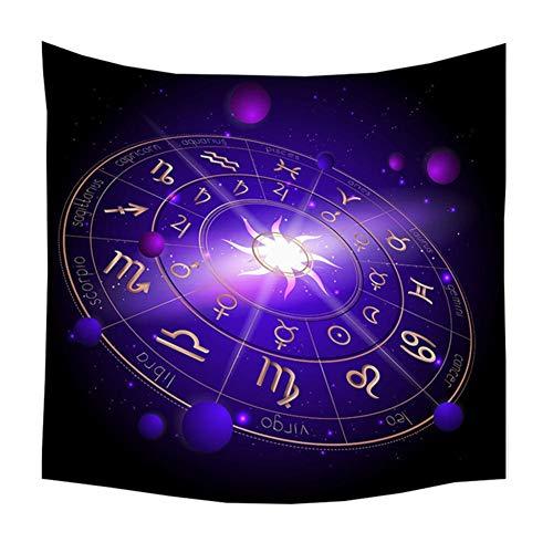 YINGOO Tapiz De Pared Poliéster 3D Vívido Constelación Tarot Adivinación Tapiz Hippie Dormitorio Indio Bohemio Sala Estar Dormitorio Decoración T949-150x150cm