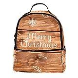AITAI Mochila de piel sintética con texto en inglés 'Merry Christmas' (Merry Christmas)