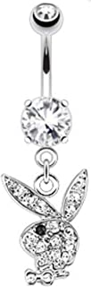 Multi Gems on Navel Ring Freedom Fashion 316L Surgical Steel