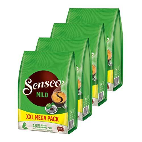 Senseo Kaffeepads Mild Roast, 4er Pack, Feiner und Samtweicher Geschmack, Kaffee Pads für Kaffepadmaschinen, 192 Pads
